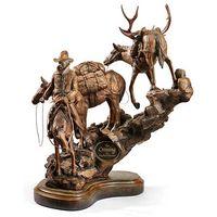 The Crossing - Cowboy & Pack Horses Sculpture