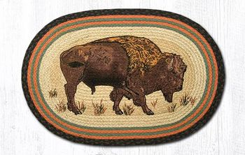 Buffalo Oval Patch Rug