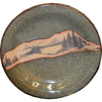 Mountain Scene Large Round Platter