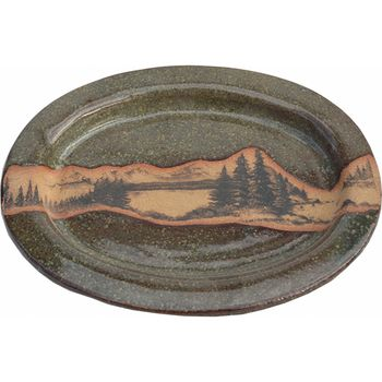 Mountain Scene Large Oval Platter