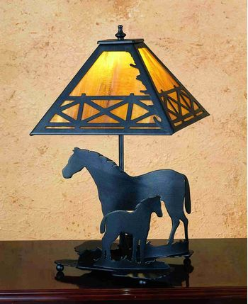 """20""""H Mare & Foal Table Lamp"""